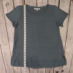 Rose & Olive Tops - Rose + Olive Green Short Sleeve Layered Top